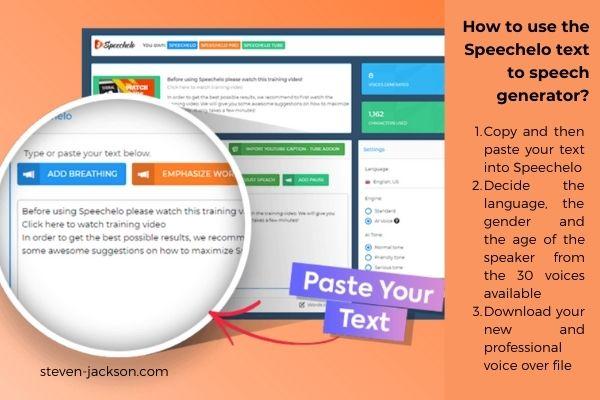 Text to speech generator