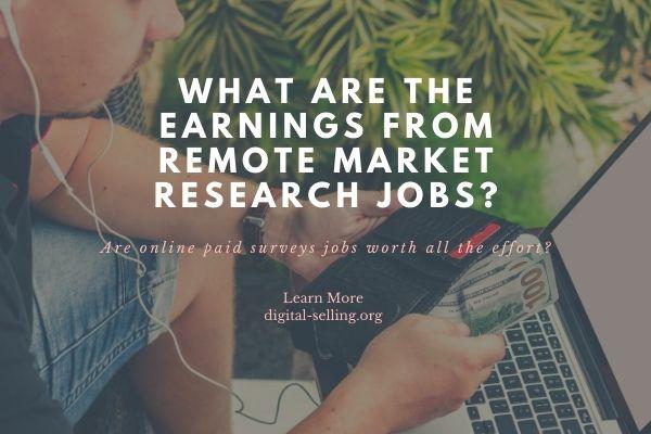 Remote market research jobs
