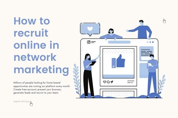 How to recruit online in Network marketing